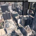 iOS版GoogleEarthがアップデートで建造物の3D表示が可能に